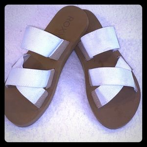 NWOT Roxy Shoreside Canvas Strap Sandals Size 7